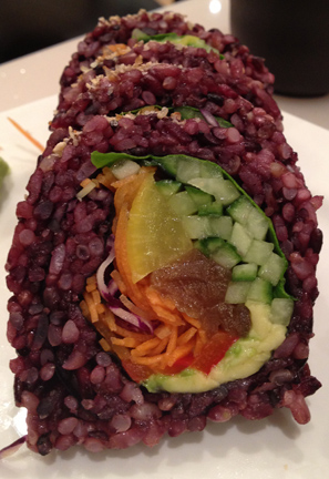 Rainbow veggie sushi roll... why not?