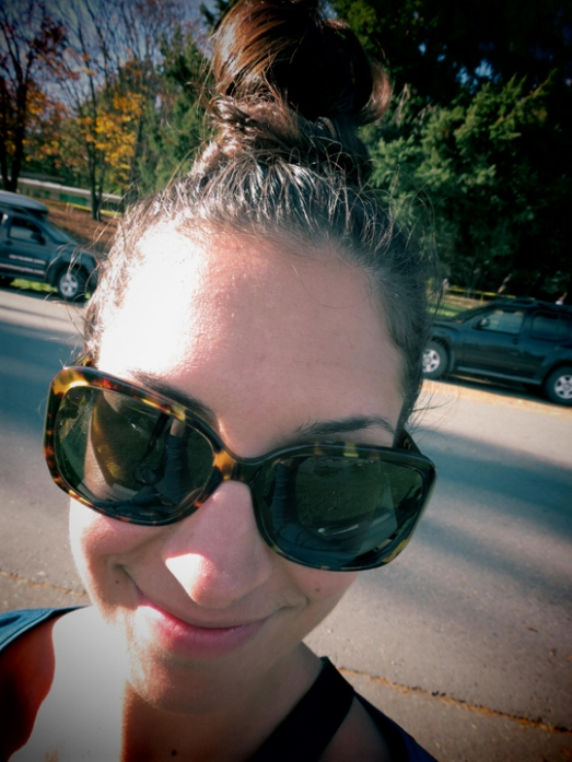 And thank goodness I discovered a top knot bun right after Labour Day, too. I feel like I'm downloading poise and positivity from the heavens itself whenever I style my hair this way now. I can't believe it took me so long to figure out that Big Hair = Big Fun!