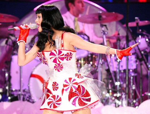 The peppermint candies on this dress actually spun! (Image courtesy of www.therpf.com)