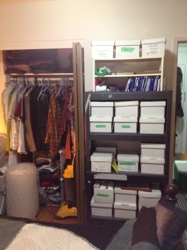 Closets and boxes and crap... oh my!